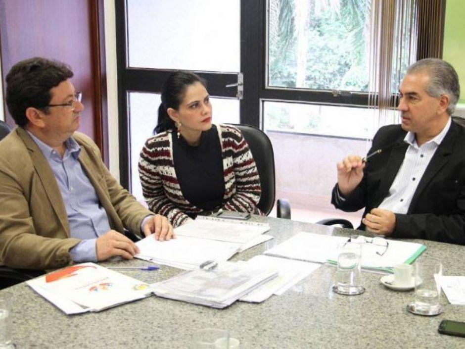 Vagner Guirado, vereadores e secretários são recebidos pelo governador Azambuja