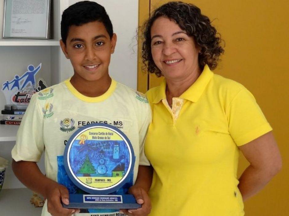 Aluno da Apae de Nova Andradina é o 4º colocado em Concurso Nacional de Cartões de Natal
