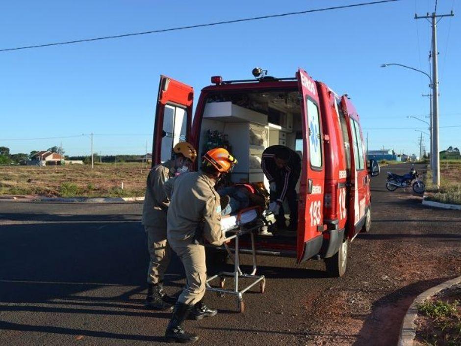 Colisão entre motocicletas deixa dois feridos em Nova Andradina