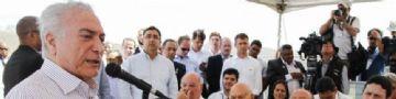 Presidente Michel Temer durante assinatura de acordos para execução de obras na Barragem de Jucazinho