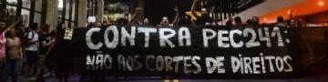 Protesto contra a PEC do Teto na avenida Paulista