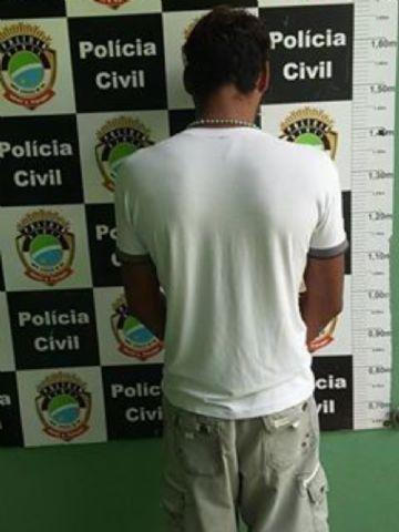 Suspeito foi preso com mandado de prisão temporária