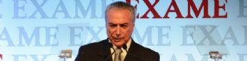 O presidente Michel Temer participa da abertura do seminário Exame Fórum 2016, em São Paulo