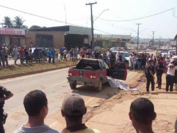 Vítima foi atingida no centro de Buritis
