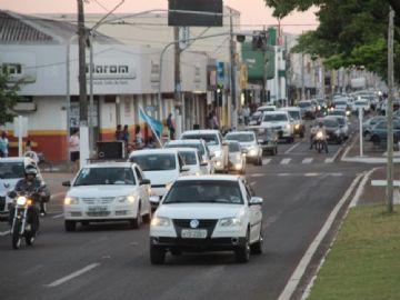 Carreata aconteceu na Moura Andrade
