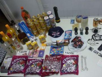Objetos e produtos recuperados