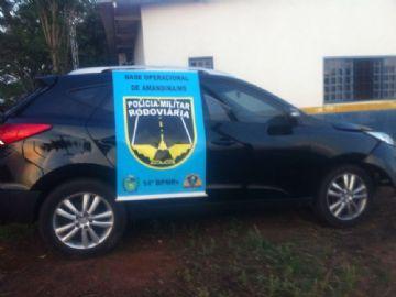 Placas originais do veículo são de Florianópolis (SC)