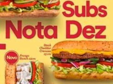Subway agora todo dia sub de Frango, Steak Cheddar Cremoso e Frango Ranch por R$ 10 cada