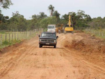 Estradas vicinais estão sendo recuperadas