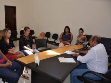 Prefeito recebe Conselho Tutelar em Taquarussu