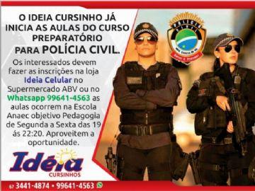 Ideia Cursinhos oferece curso preparatório para o concurso da Polícia Civil