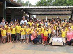 Três mil tsurus foram confeccionados pelos alunos da Rede Municipal de Ensino