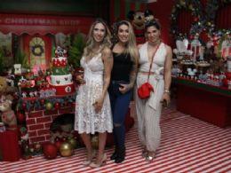 Ao lado das amigas Dani Bolina e Dani Sousa, Lizi Benites comemora aniversário da primogênita Liz