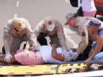 Colisão deixa motociclista grávida ferida no trânsito de Nova Andradina