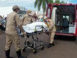 Colisão entre motonetas deixa duas mulheres feridas na Eurico Soares
