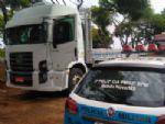 Polícia Militar recupera caminhão roubado no Paraná