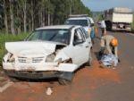 Homem morre após colisão entre carro e caminhão caçamba na MS-276