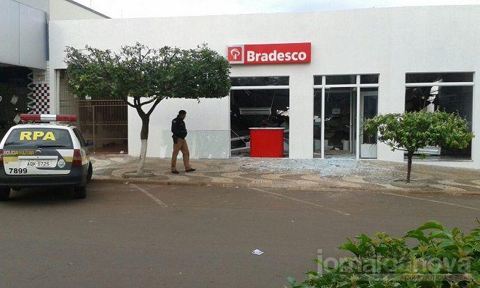 Quadrilha explodiu caixas eletrônicos em Terra Rica em agosto de 2016, segundo a PF - Foto: Arquivo/WhatsApp
