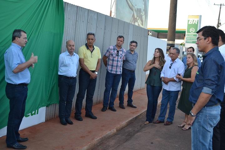 Durante o ato da inauguração da pedra fundamental - Foto: Jornal da Nova