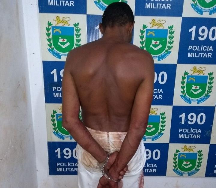 Autor foi preso em seguida pela PM - Foto: WhatsApp/Jornal da Nova
