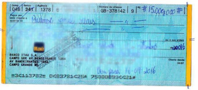 Cheque produto de fraude - Foto: Jornal da Nova