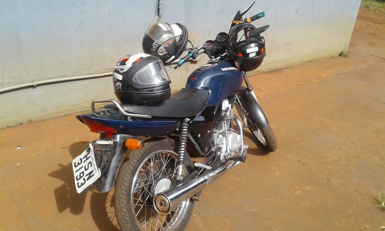 Moto apreendida utilizada no crime - Foto: Divulgação