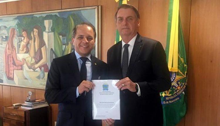 O deputado estadual Coronel David (PSL) foi ao Palácio do Planalto em Brasília na quinta-feira (25-4-2019) para um encontro com o presidente da República Jair Bolsonaro (PSL) - Foto: Divulgação
