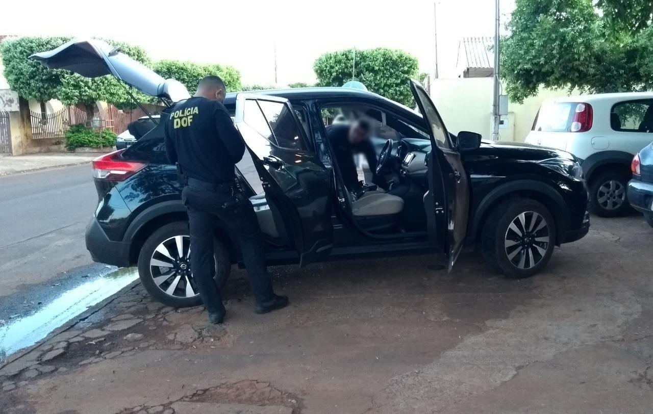 Veículos foram abordados na entrada da cidade de Batayporã - Foto: Luis Gustavo/Jornal da Nova